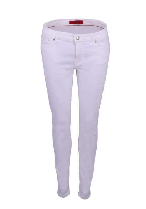 HUGO Skinny Jeans GILLJANA/6 5 Pocket Stretch Zipper weiß