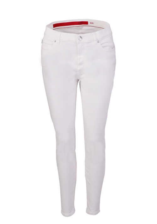 HUGO Super Skinny Jeans CHARLIE Zipper 5 Pocket ecru