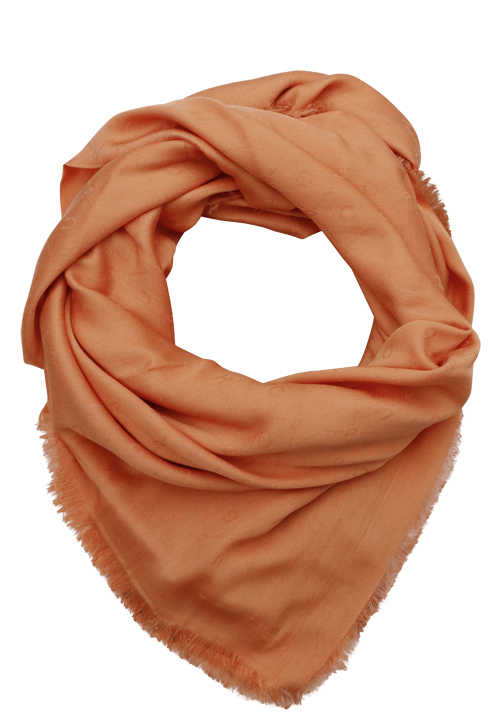 HUGO Tuch WOMEN_Z 506 Fransen Material-Mix orange
