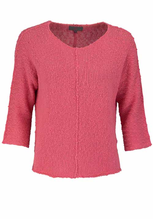 T-Shirts, Polos & Tops LIEBLINGSSTÜCK 3/4 Arm Pullover BEATRICE Rundhals Oversize lachs
