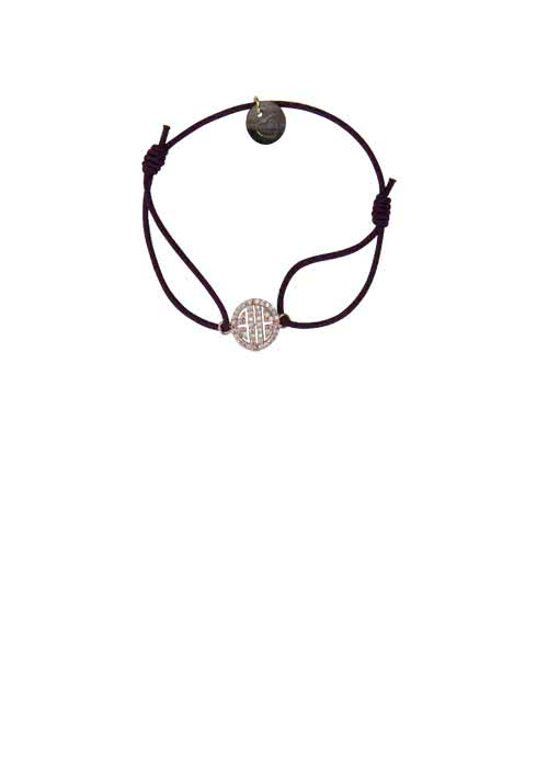 LUA Armband TRUTH Elastik Strass rose vergoldet beere