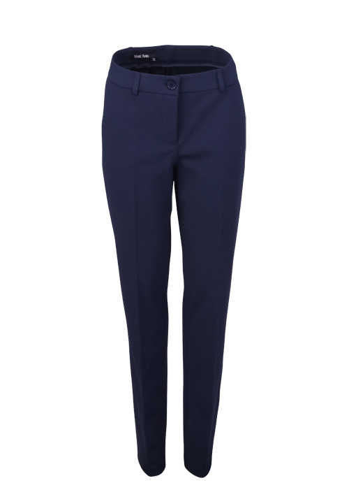 MARC AUREL BUSINESS LINE Straight Hose Bügelfalte Stretch navy