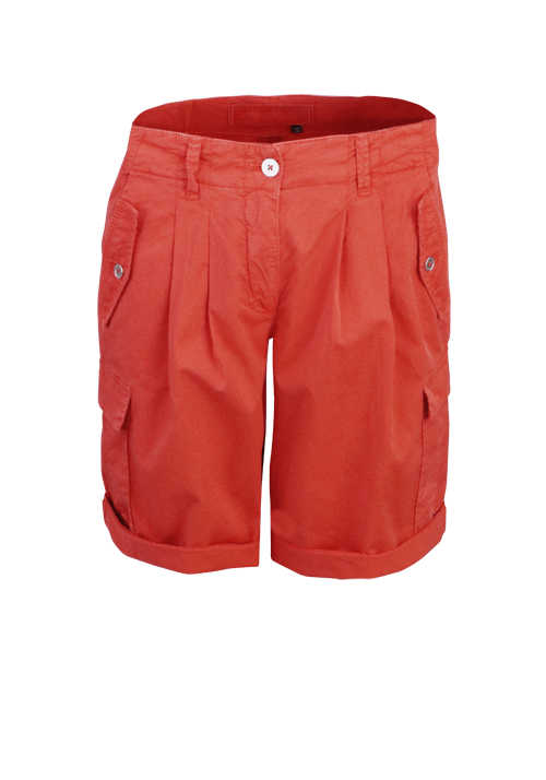 MARC AUREL Cargo-Shorts Button-Zipp-Verschluss Umschlag orange