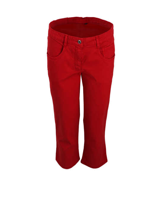 MARC AUREL Damen 5-Pocket Caprihose rot