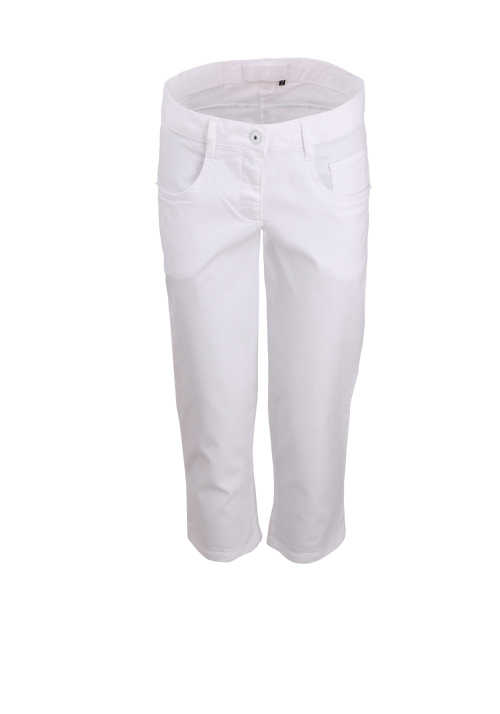MARC AUREL Damen 5-Pocket Caprihose weiß