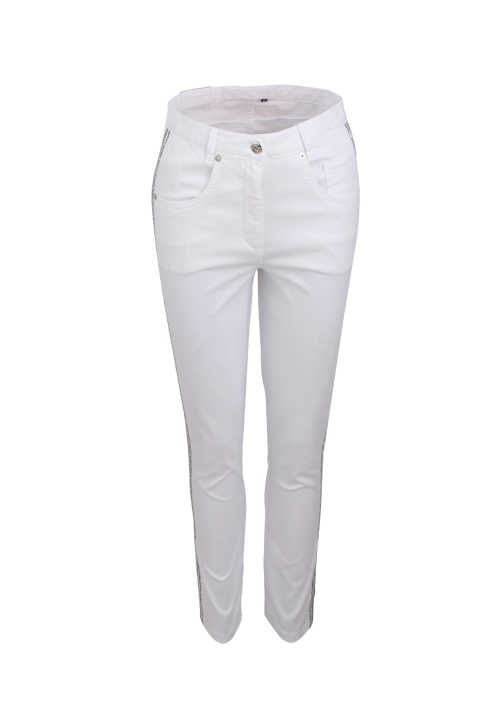 MARC AUREL Hose Skinny Fit High Waist 5-Pocket weiß