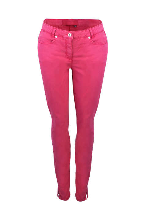 MARC AUREL Skinny Fit Jeans Normal Waist 5-Pocket Stretch beere