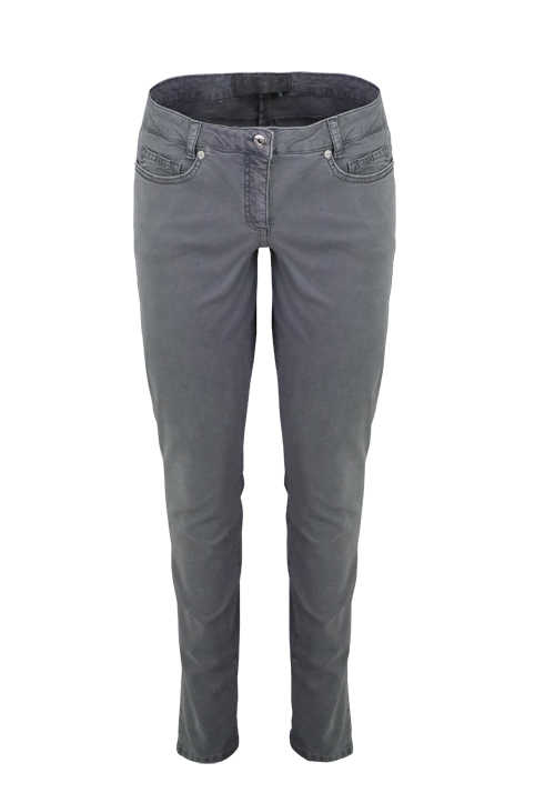 MARC AUREL Skinny Fit Jeans Normal Waist 5-Pocket Stretch grau