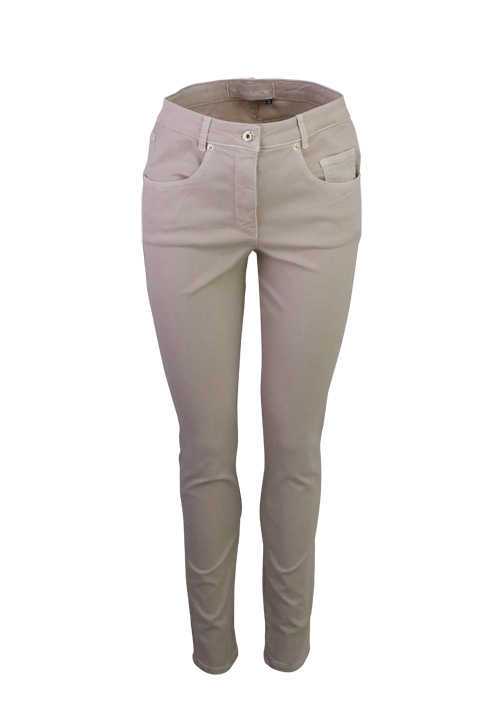 MARC AUREL Skinny Hose 5 Pocket Stretch beige