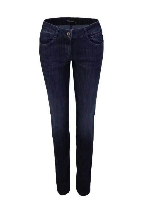 MARC AUREL Skinny Jeans Used 5 Pocket dunkelblau