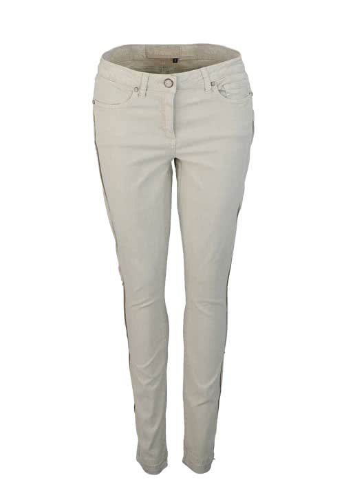 MARC AUREL Straight Hose Zierstreifen Stretch hellbraun