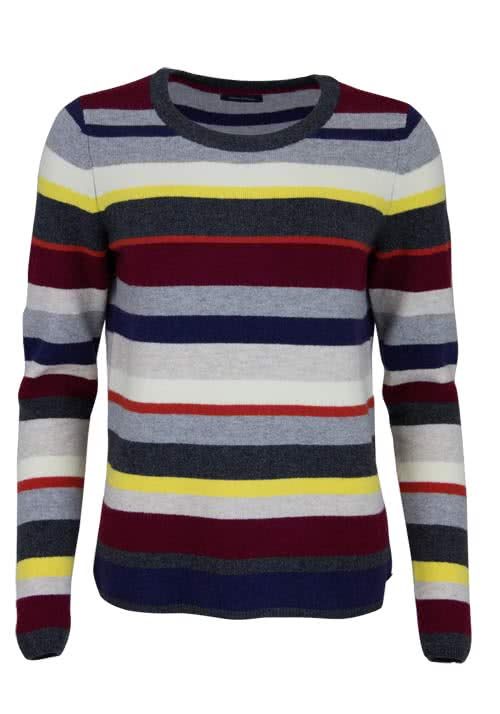 MARC O´POLO Langarm Pullover Rundhals Ringel Multicolor