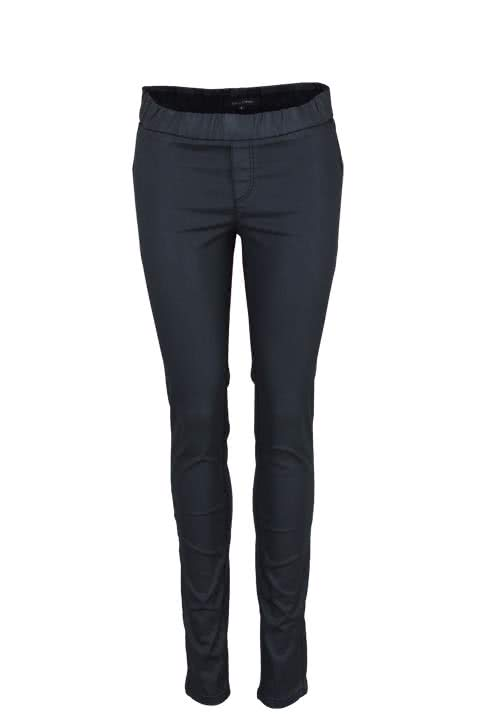 MARC O´POLO Slim Fit Jegging Gummibund Stretch Beschichtet schwarz