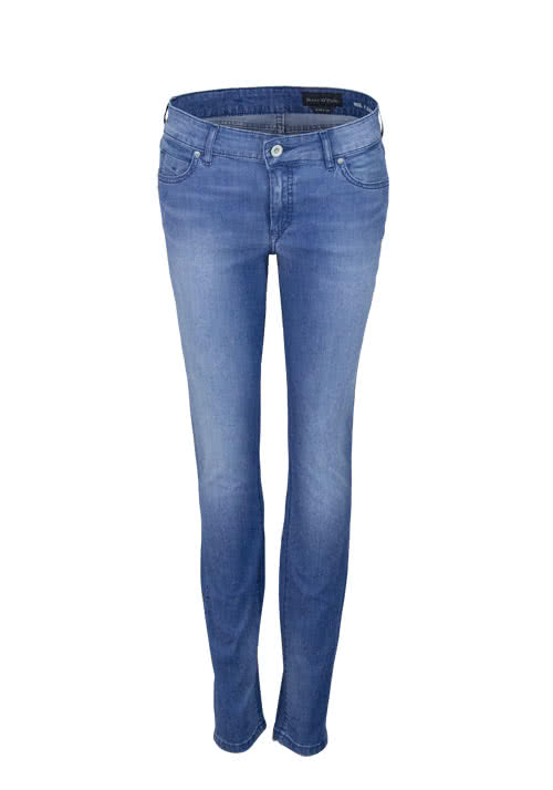 MARC O´POLO Slim Jeans ALBY Used Stretch mittelblau