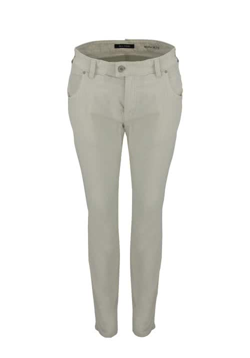 MARC O´POLO cropped Cordhose Slim Fit beige