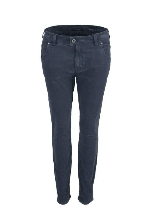 MARC O´POLO cropped Cordhose Slim Fit dunkelgrau