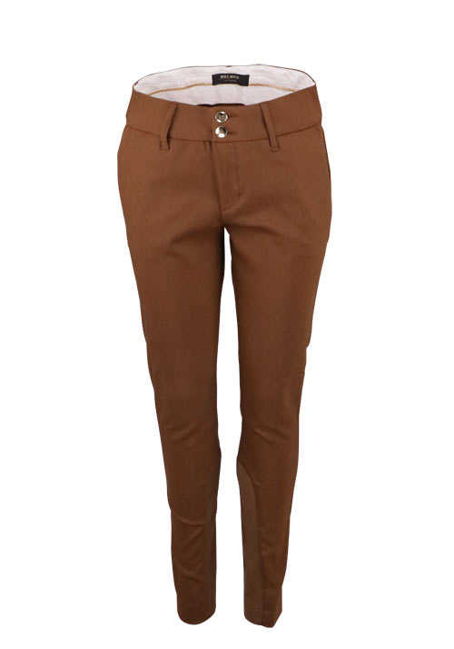 MOS MOSH Hose BLAKE NIGHT Stretcheinsatz cognac