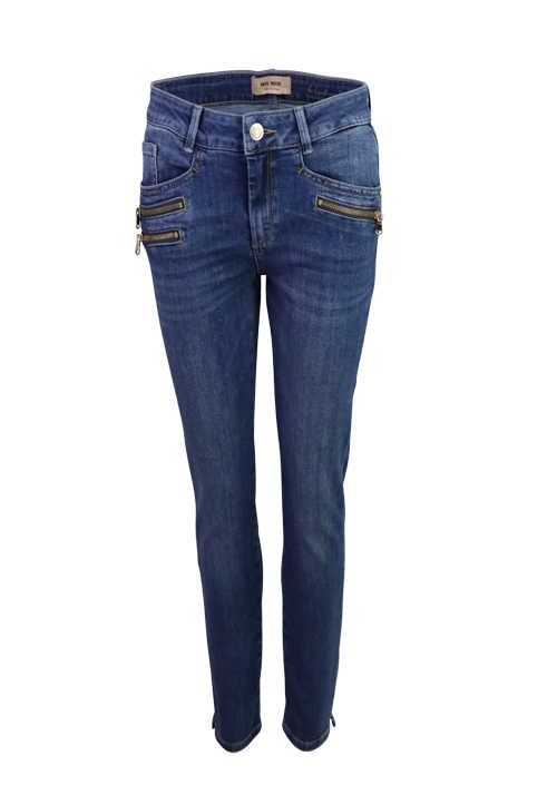 MOS MOSH Jeans BERLIN RE-LOVED recycelte Materialien 5 Pocket mittelblau