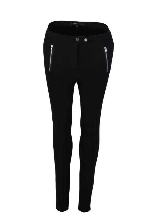 ONLY Skinny Hose Zipper Stretch schwarz