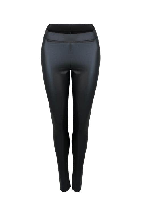 ONLY Leggings Skinny beschichtet Stretch schwarz