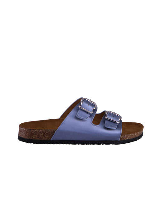 ONLY Sandalen Riemen Metallic-Design rauchblau