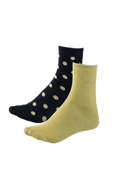ONLY Socken 17/99-Glitter Socken 2er Pack 15147959/Black/Plain Gold