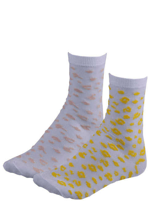 ONLY Socken Lurex Stretch  Intarsie-Muster hellgrau