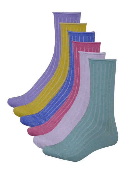 ONLY Socken Lurex Stretch Multicolor mint