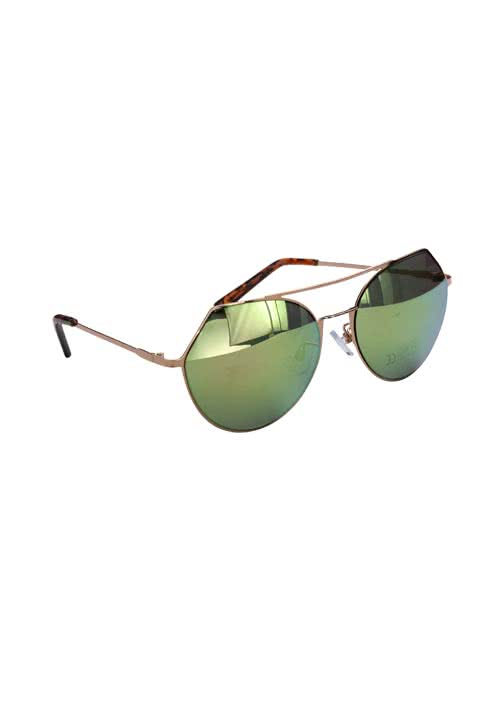 PIECES Sonnenbrille Metallrahmen rosegold