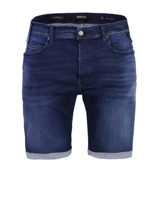 REPLAY Bermuda Shorts 5 Pocket Hyperflex rauchblau