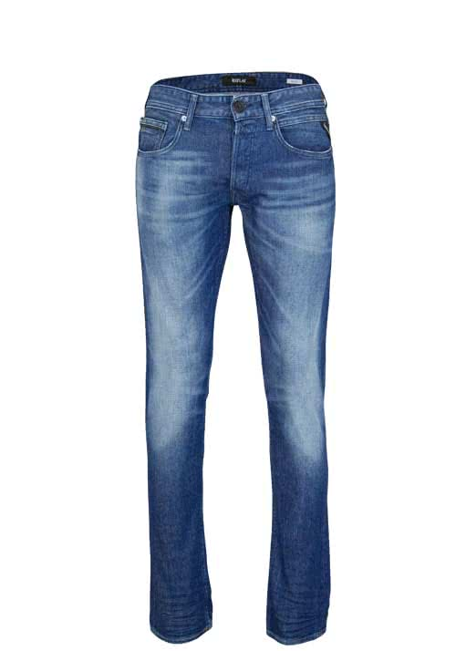 REPLAY Comfort Fit Jeans GROVER Stretch used mittelblau