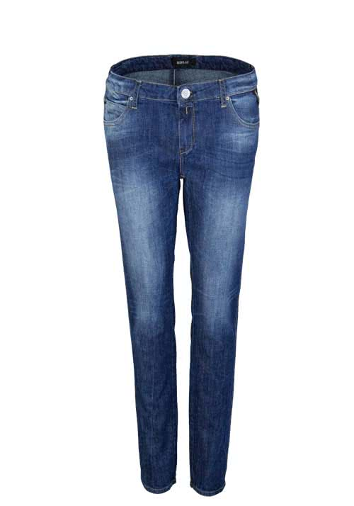 REPLAY Comfort Fit Jeans KATEWIN Used Taschen mittelblau