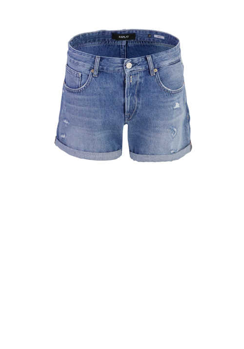 REPLAY Hotpants ANYTA 5-Pockets Destroy hellblau