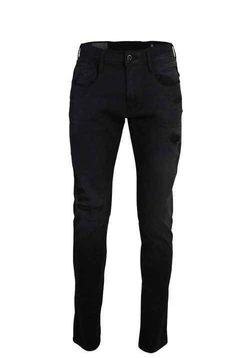 REPLAY Hyperflex Jeans ANBASS 5 Pocket Stretch dunkelgrau