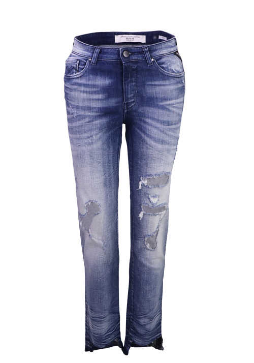 REPLAY Jeans 65-Cropped Straight-Destroy WA651R/419145T/009