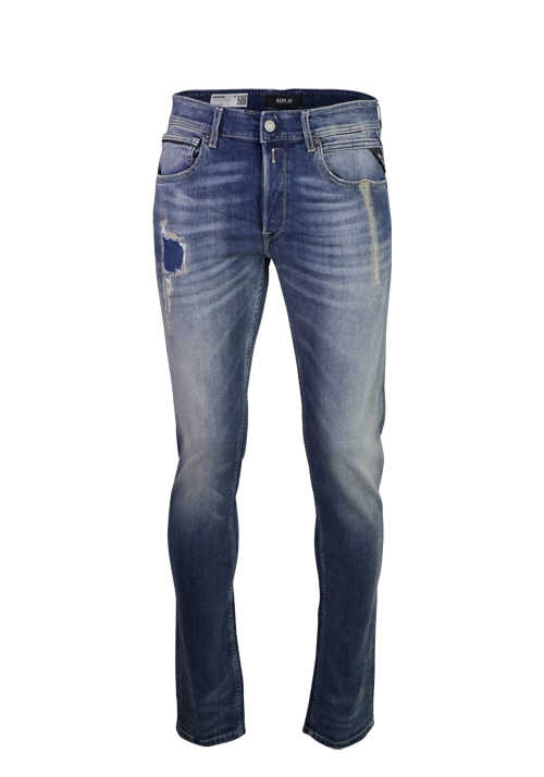 REPLAY Regular Fit Jeans GROVER 5-Pocket Stretch blau