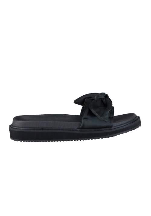 REPLAY Sandalen Schleife Satin-Optik schwarz