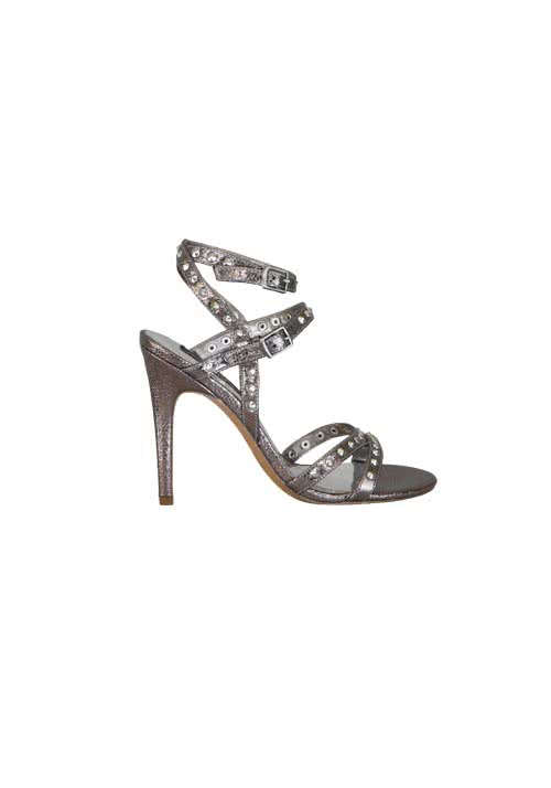 REPLAY Sandalette Nieten Metallic-Optik graubraun
