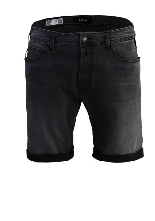 REPLAY Shorts RBJ.901 5-Pocket Used-Look anthrazit