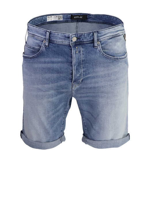 REPLAY Shorts RBJ.901 5-Pocket Used-Look mittelblau
