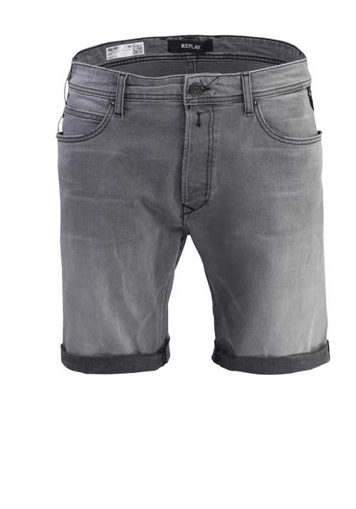 REPLAY Shorts RBJ.901 5-Pocket Used-Look mittelgrau