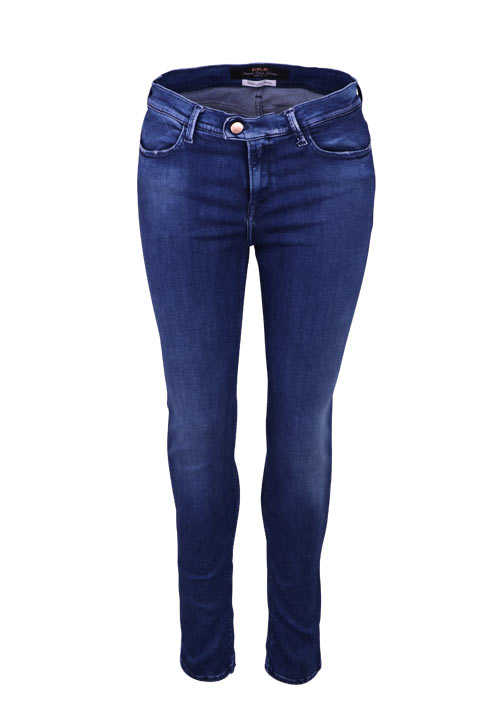 REPLAY Skinny Jeans High Waist Touch Used mittelblau