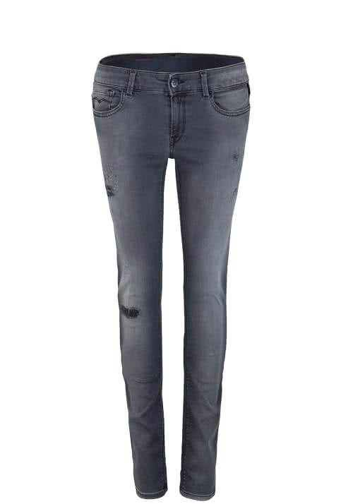 REPLAY Skinny Jeans LUZ Hyperflex Used anthrazit