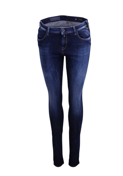 REPLAY Skinny Jeans STELLA Hyperflex Bi-Stretch Used dunkelblau