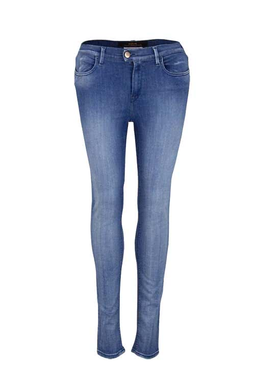 REPLAY Skinny Jeans Waschung used hellblau