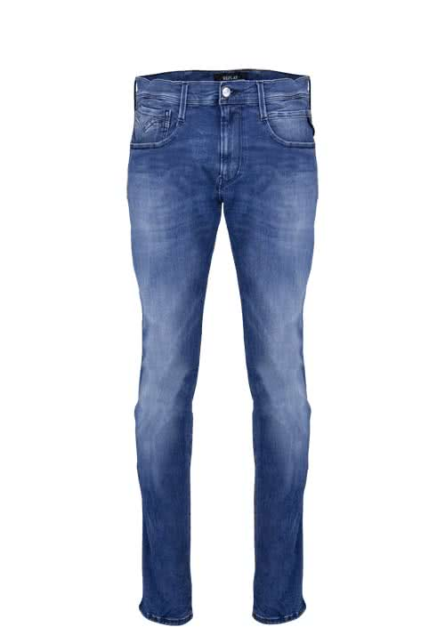 REPLAY Slim Fit Jeans ANBASS Stretch used hellblau