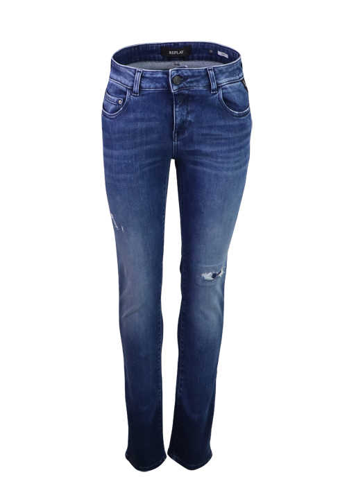 REPLAY Slim Fit Jeans FAABY 5 Pocket Modal Stretch mittelblau