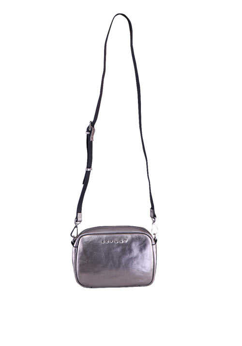 REPLAY Tasche Schulterriemen Zipper Metallic-Design silber