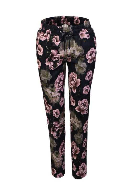 RICH&ROYAL Skinny Hose Allover Muster rosa