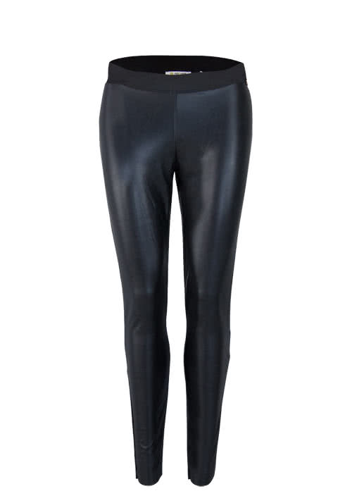 RICH&ROYAL Slim Leggings Leder-Optik Gummibund schwarz